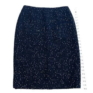 Escalated Black With Sequins Skirt